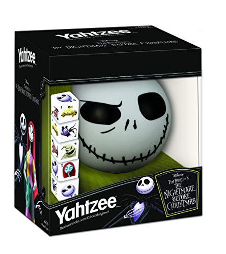 Disney Yahtzee The Nightmare Before Christmas Dice Game | Collectible Jack Skellington Toy | Family Dice Game & Travel Games