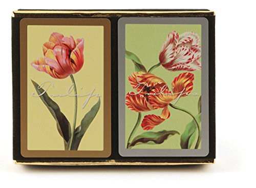 Congress Tulips Playing Cards - Jumbo Index (Pack of 2)