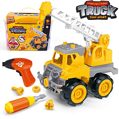 Take Apart Toys with Electric Drill | Toddler DIY Assembly Construction Truck | Building Toys Gifts for Boys & Girls Age 3yr-6yr | Kids Stem Building Toy Age 4,5 (Crane)
