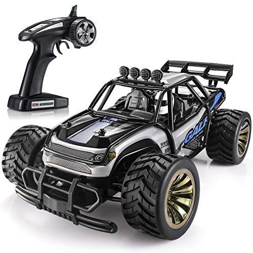 SGILE 15 KM/H Remote Control Car Toy, Kids RC Race Car for Boy with 2 Rechargeable Battery, Blue