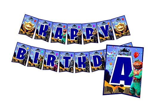 A2ZPlusmore Gaming Birthday Party Bunting Banner, Garland, Flag Pennants