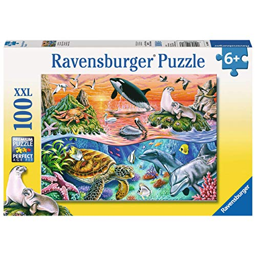Ravensburger Beautiful Ocean 100 Piece Jigsaw Puzzle for Kids – Every Piece is Unique, Pieces Fit Together Perfectly
