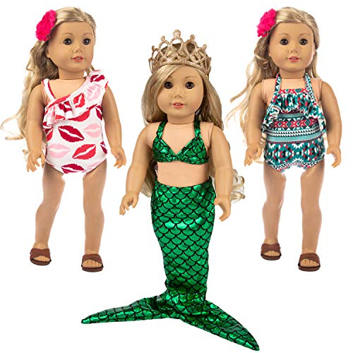 "Ecore Fun 7 Pcs 18 Inch Doll Clothes for America 18"" Girl Doll 