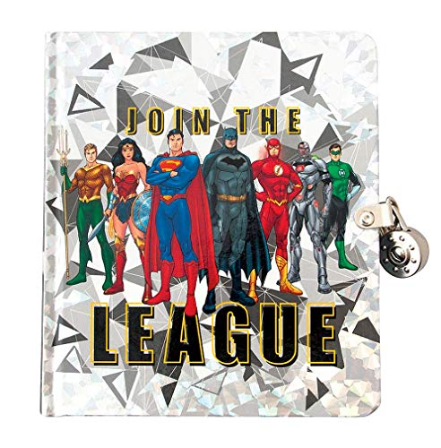 Playhouse DC Comics Join The Justice League Lock & Key Lined Page Diary for Kids