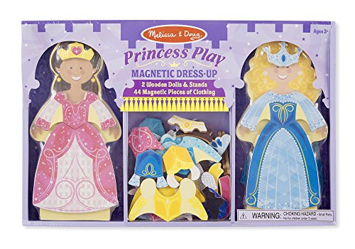 Melissa & Doug Princess Play Magnetic Dress Up Doll