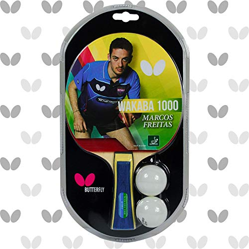 Butterfly Wakaba Table Tennis Racket – 3 Ping Pong Models - ITTF Approved Ping Pong Paddle – Ping Pong Racket Attacks with Great Speed and Spin, 1000