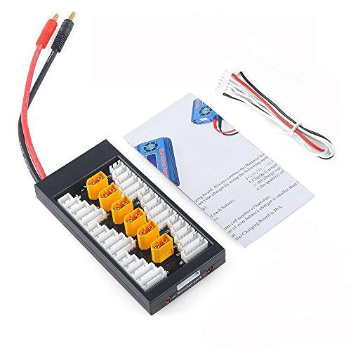 Hobby-Ace XT60 LiPo Battery Balance Charging Board Plate 2-6S Parallel Connect Plate