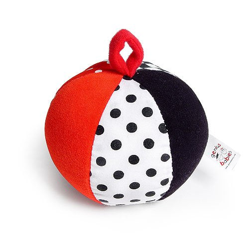 Baby's First Ball - Black, White & Red Jingle Ball