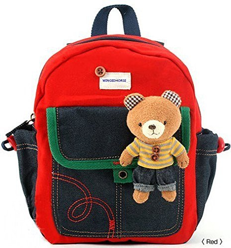 Kid Toddler Walking Safety Harness with Cute Teddy Bear/Bunny Backpack 鈥� Sold and Ship from USA (Red Teddy Bear)