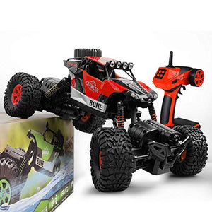 Gizmovine RC Cars 4WD Rock Crawler Large Size Boys Remote Control Cars and Trucks 2.4Ghz Transformer Toy Electronic Monster Truck R/C Off Road for Kids, 2019 Update Version (Red)