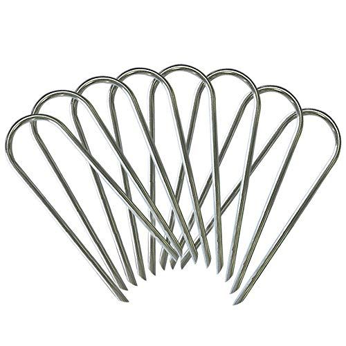 Eurmax Trampolines Stakes Wind Stake 0.35 Inch Heavy Duty Stake Safety Ground Anchor Galvanized Steel Wind Stakes, 8pcs-Pack