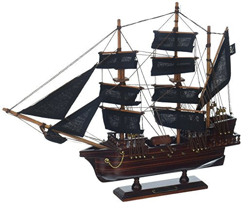 Hampton Nautical Wooden Calico Jack's The William Model Pirate Ship, 14