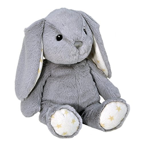 Cloud b Hugginz Plush Bunny, Grey, 15