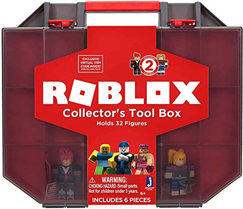 Roblox Action Collection - Collector's Tool Box and Carry Case that Holds 32 Figures [Includes Exclusive Virtual Item] - Amazon Exclusive, Basic Pack