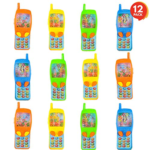ArtCreativity 4 Inch Cellphone Water Ring Game - Pack of 12- Colorful Handheld Phone Game for Kids - Fun Birthday Party Favors for Children, Contest Prize - Great Gift Idea for Boys, Girls, Toddlers