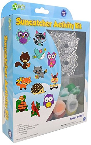 Kelly's Crafts SGPMED-71615 Suncatcher Group Kit Medium-Forest Critters 12/Pkg