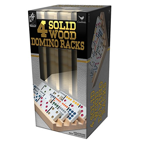 Solid Wood Domino Racks - 4 Pack