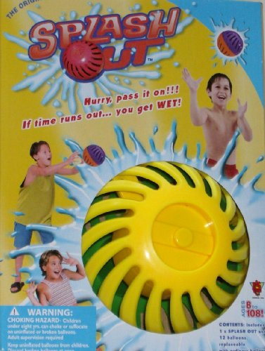 Splash Out Water Game PASS IT ON Wet Balloon Fun, Colors Vary