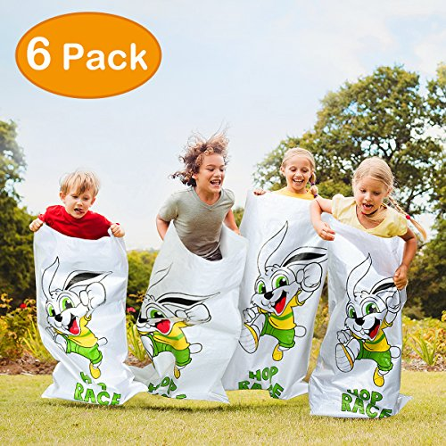 Outdoor Lawn Games, 6 Pack Potato Sack Race Bags, Kids Family Party Games Favor, All Ages Kids and Family Available 23