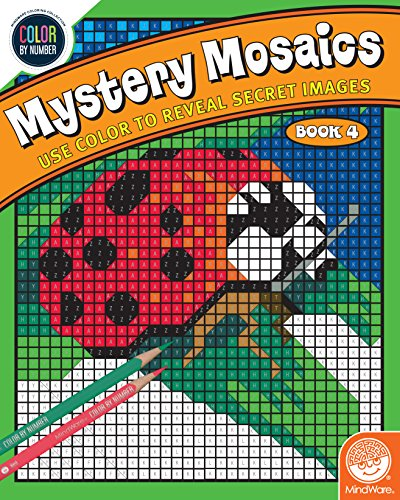 MindWare Color by Number Mystery Mosaics: (Book 4)