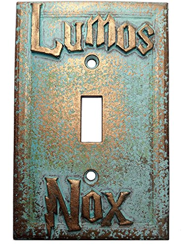 Aged Lumos/Nox Light Switch Cover (Custom) (Aged Patina)