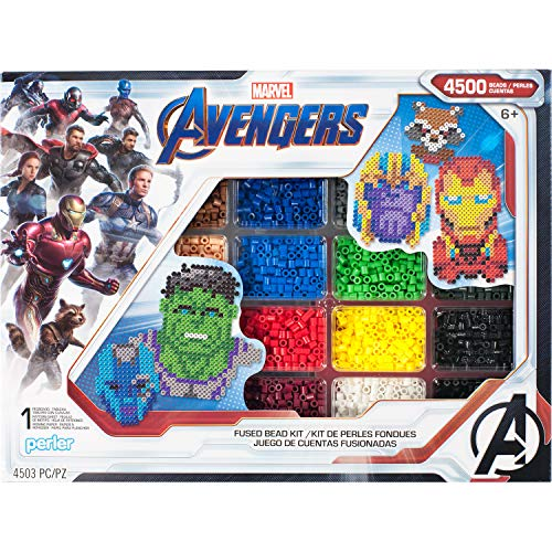 Perler PER8054346 Marvel Avengers Fuse Bead Kit, 4503pc, 10 Patterns, Multicolor