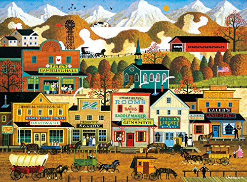 Buffalo Games - Charles Wysocki - Pete's Gambling Hall - 1000 Piece Jigsaw Puzzle