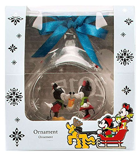 Disney's Mickey and Minnie Mouse Glass Drop Sketchbook Ornament -- 2015 Edition