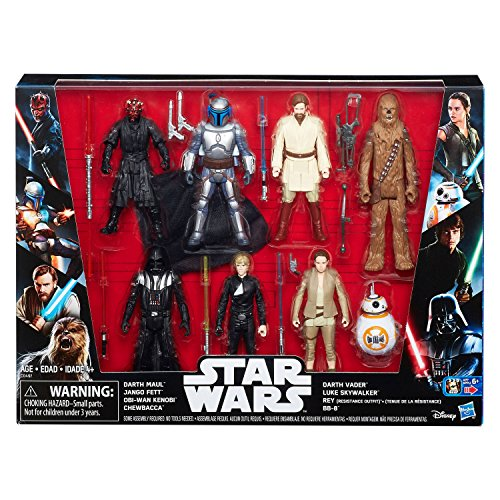 Star Wars Saga Action Figure 8 Pack with Darth Maul
