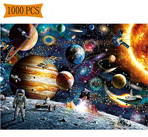1000 Pieces Puzzles for Adults Universe Jigsaw Puzzles Spacecraft Artwork Art for Teen Adult Grown Up Puzzles Large Size Toy Educational Games Gift 1000 PCS Space (Space)