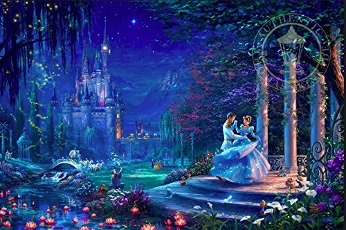 Ceaco Thomas Kinkade The Disney Collection Cinderella Starlight Jigsaw Puzzle, 750 Pieces
