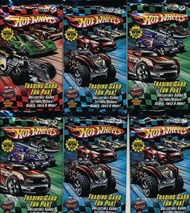 6 pack lot of factory sealed Hot Wheels Cards