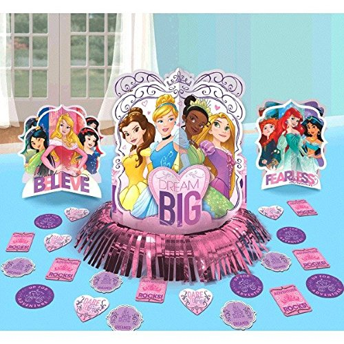 Disney Princess Dream Big Party Table Decorations Kit ( Centerpiece Kit ) 23 PCS - Kids Birthday and Party Supplies Decoration