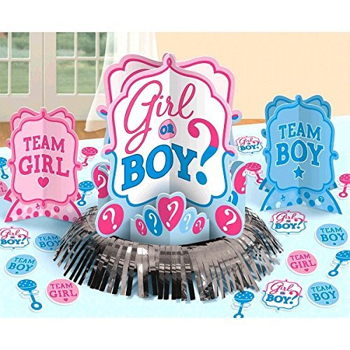 Girl or Boy ? Gender Reveal, Neutral, Unisex, Boy or Girl Baby Shower Party Table Decoration Kit Party Supply 23 PCS - Baby Shower and Party Supplies Decoration