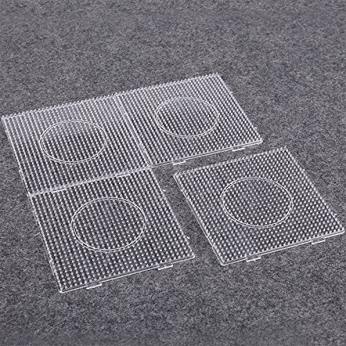 Sago Brothers Fuse Beads Boards Large Clear Pegboards for Kids 4 PCS