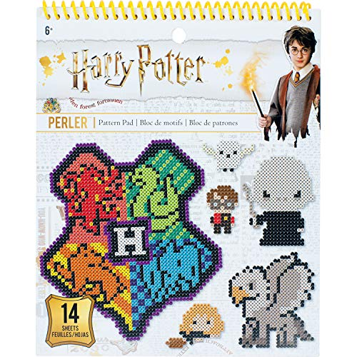 Perler Beads Harry Potter Instruction Pad, 53 Patterns, Multicolor