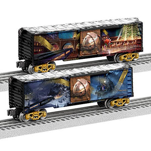 Lionel The Polar Express, Electric O Gauge Model Train Cars, Boxcar (2 Pack)