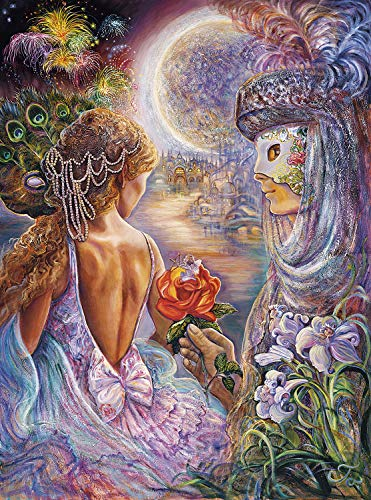 Buffalo Games - Josephine Wall - Masque of Love (Glitter Edition) - 1000 Piece Jigsaw Puzzle