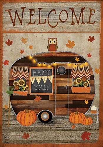 Briarwood Lane Fall Camper Primitive Garden Flag Welcome Autumn 12.5