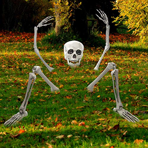 Creepy Graveyard Halloween D�cor Ground Breaker Skeleton for Halloween Decorations