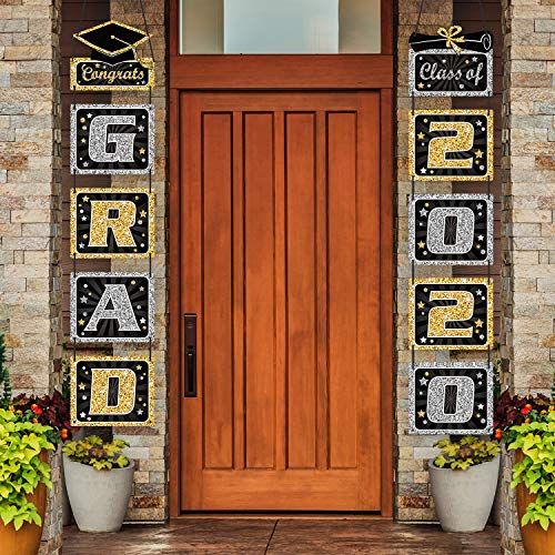 2020 Graduation Banner - Graduation Decoration Graduation Porch Sign Grad Party Supplies, Class of 2020 Congrats Grad for College, High School