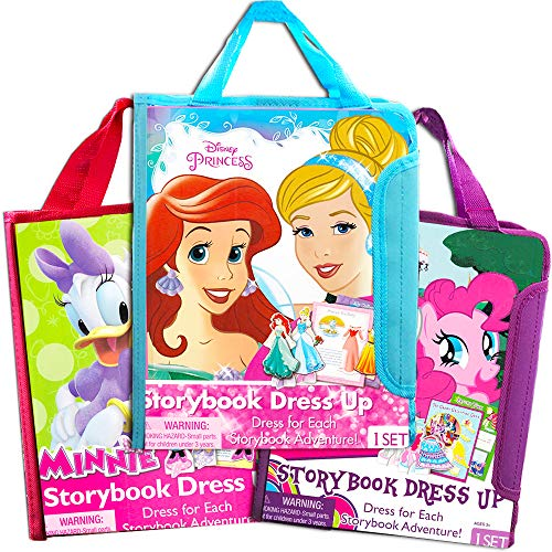 Disney Magnetic Dress Up Dolls for Toddlers Kids, 95 Pc -- 3 Sets Featuring Disney Princess and Friends (5 Dolls, 95 Pcs, 2 Books and More)