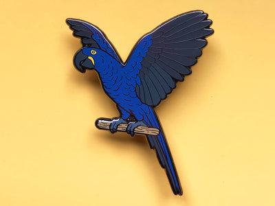 Hymie the Hyacinth Macaw Hard Enamel Pin