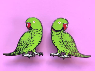 Indian Ringneck (Green) Hard Enamel Pin