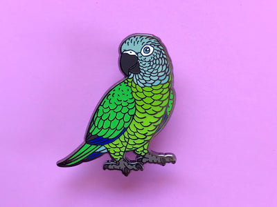 Dusky Headed Conure Hard Enamel Pin