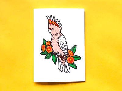 Major Mitchell's Cockatoo Greeting Card