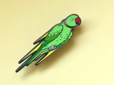 Touché the Indian Ringneck Hard Enamel Pin