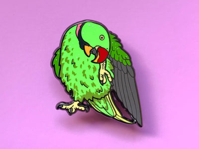 Rasta the Alexandrine Parakeet Hard Enamel Pin