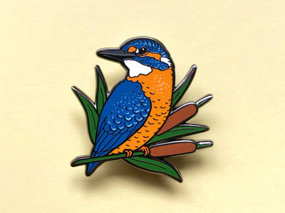 Common Kingfisher Hard Enamel Pin