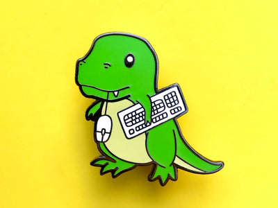 Retrosaur Computing Hard Enamel Pin
